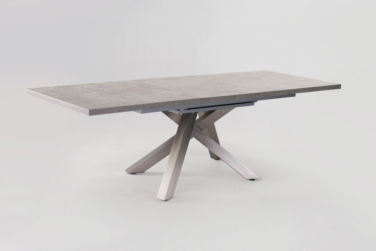 Modrest Orson Contemporary Concrete Extendable Dining Table - Extendable concrete dining table