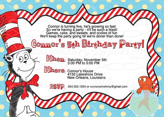 Dr seusscat in the hat birthday party invitation creole dr seusscat in the hat birthday party invitation bookmarktalkfo Choice Image