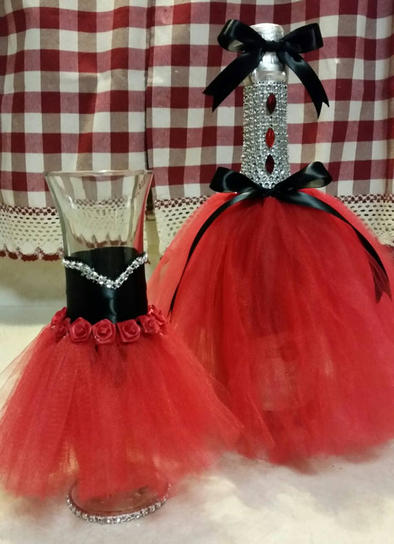 Decorated Champagne Bottle For Weddings Quinceanera Sweet 16 My