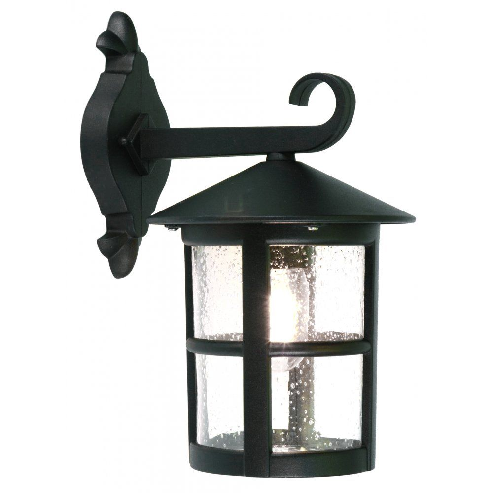 Elstead Lighting Hereford Large Single Light Outdoor Hanging Wall Lantern in a Black Finish  sc 1 st  Pinterest & Elstead Lighting Hereford Large Single Light Outdoor Hanging Wall ...