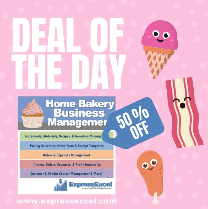 Cake Decorating Home Bakery Business Management Spreadsheet Pricing Calculator Home Bakery Business Bakery Business Home Bakery