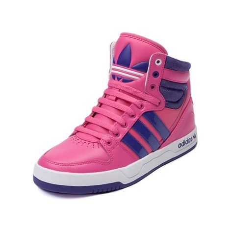 Shop for Tween adidas Court Attitude Athletic Shoe in Pink Purple White at Journeys Kidz. Shop today for the hottest brands in mens shoes and womens shoes at JourneysKidz.com.Confident b-ball kicks that look great both on and off the court. The adidas Court Attitude high top features a synthetic leather upper with patent accents, padded collar, and basketball-inspired rubber outsole for ultimate court grip.