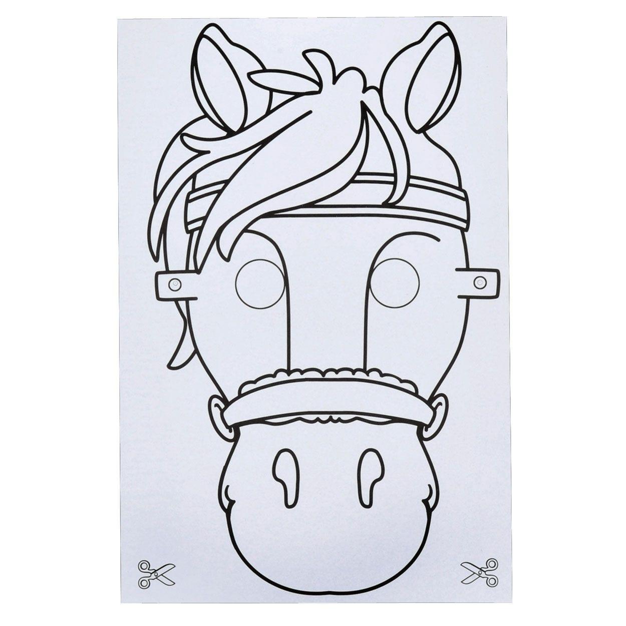 Sint Maskers Maken Maskers Paard Feestje Paard Knutselen