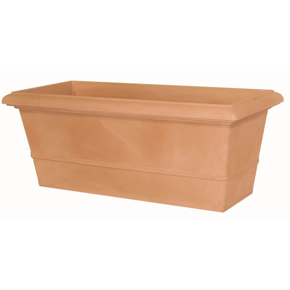 Marchioro 31 5 In Terra Cotta Rectangle Planter Pot 364054 The