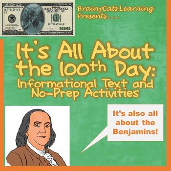 100TH Day of School and Benjamin Franklin: Reading and No-Prep ...