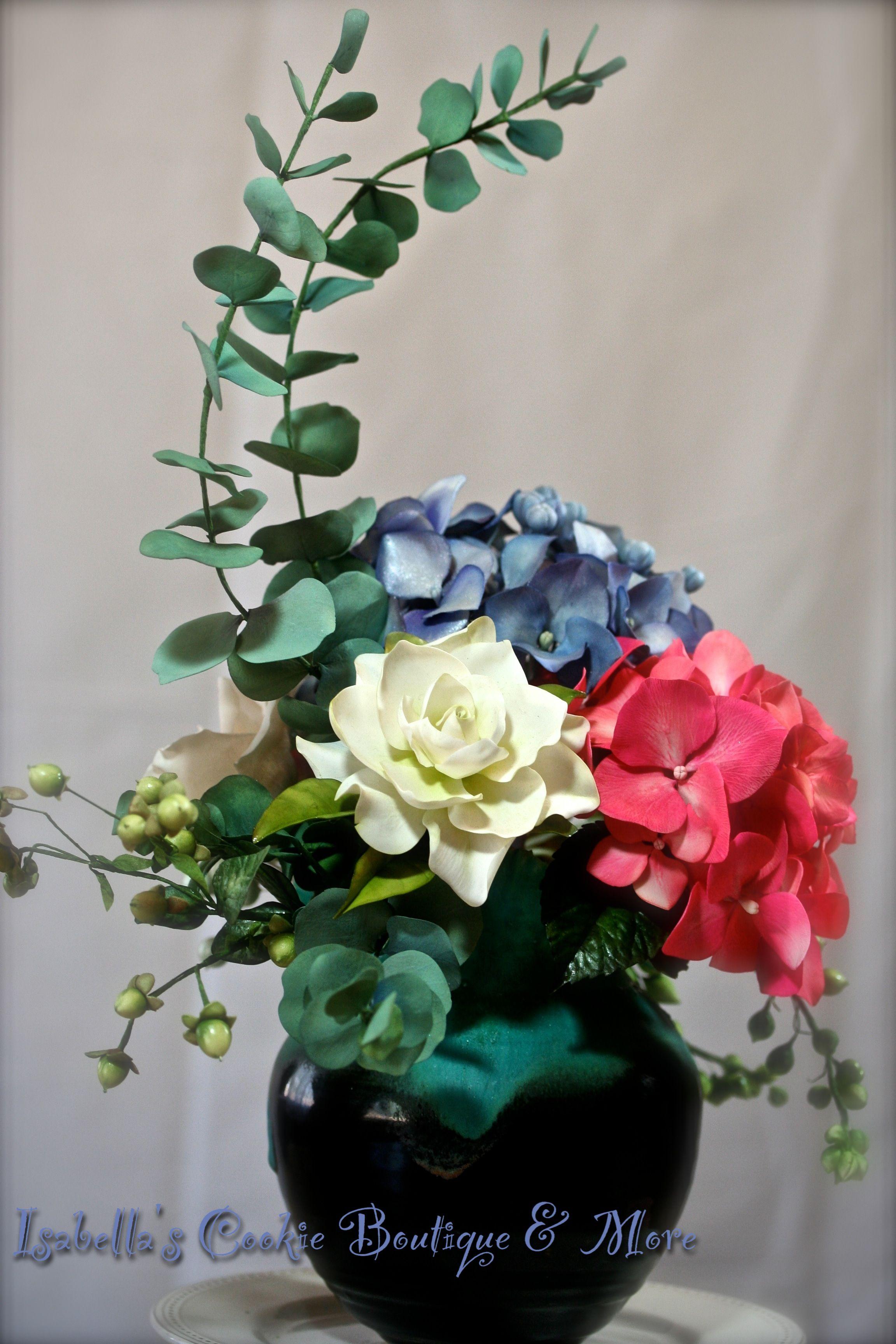 Gum Paste Hydrangea Bouquet Gum Paste Flowers Pinterest