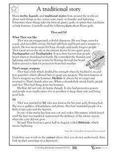 Norse Gods & Goddesses Facts & Worksheets | Norse Mythology For Kids