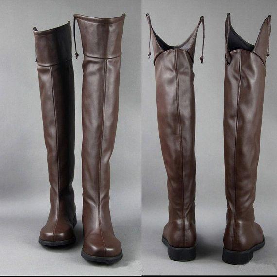 Attack on Titan/Shingeki no Kyojin Eren / Mikasa / Levil Cosplay Shoes Hand Made Boots Customized Size