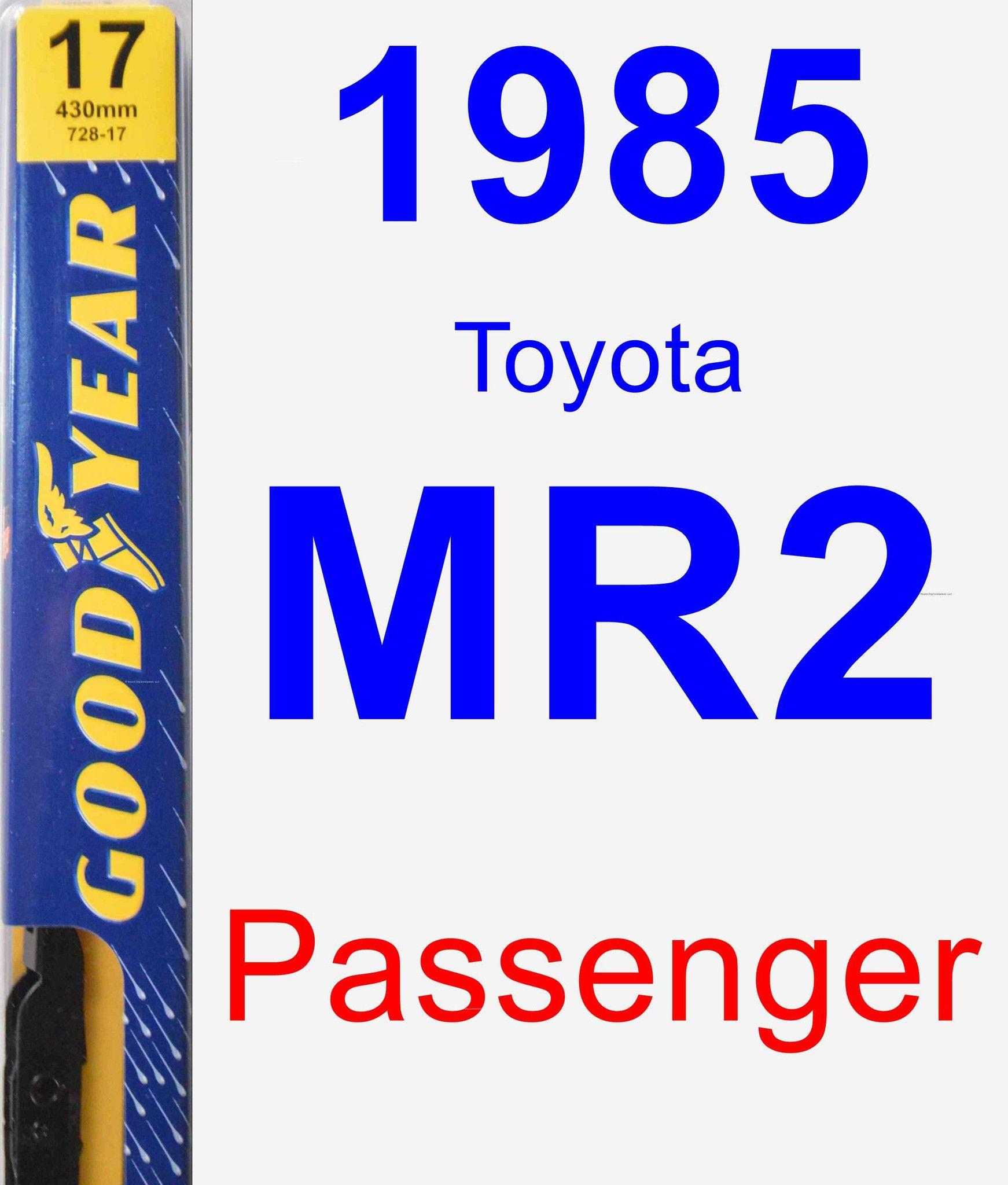 Passenger Wiper Blade For 1985 Toyota MR2