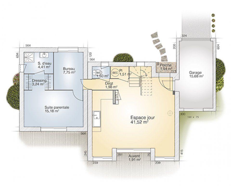 Plan maison neuve à construire - Maisons France Confort Loft 90