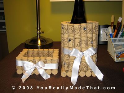 More recycled cork crafts!