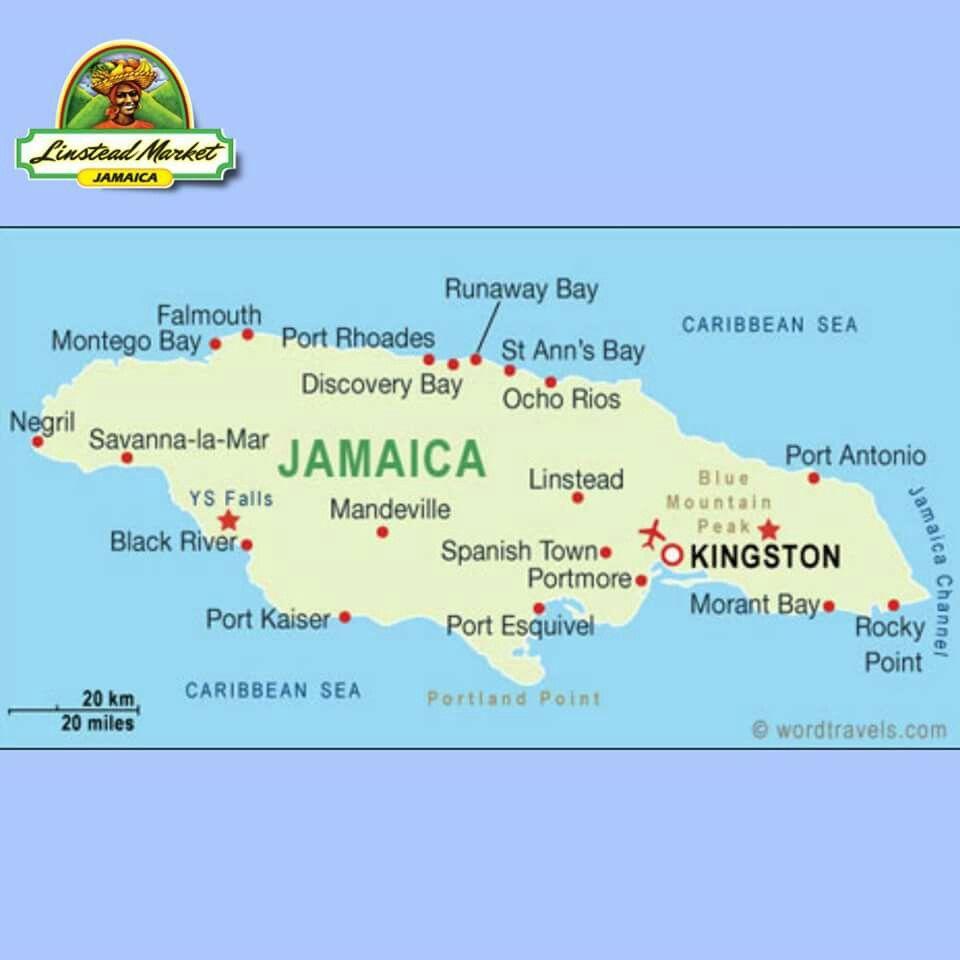 Pin by April Douglas on Jamaica | Jamaica map, Montego Bay, Jamaica ...