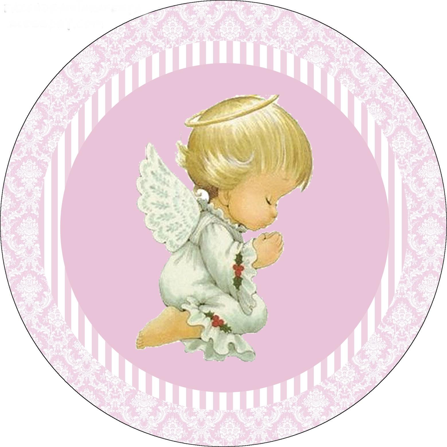 Елка, вафельная картинка ангелочек