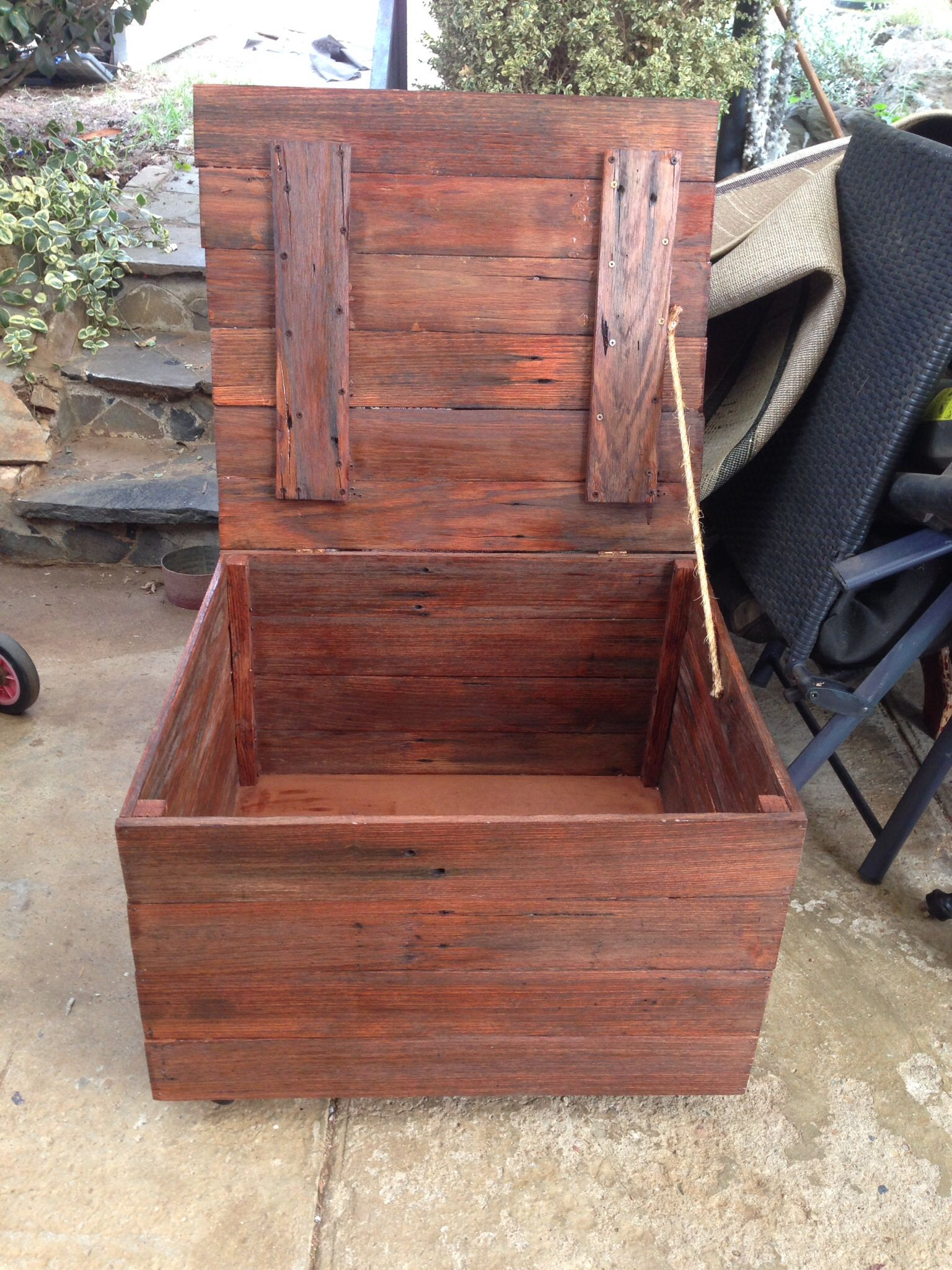 Box Made From Old Fence Palings