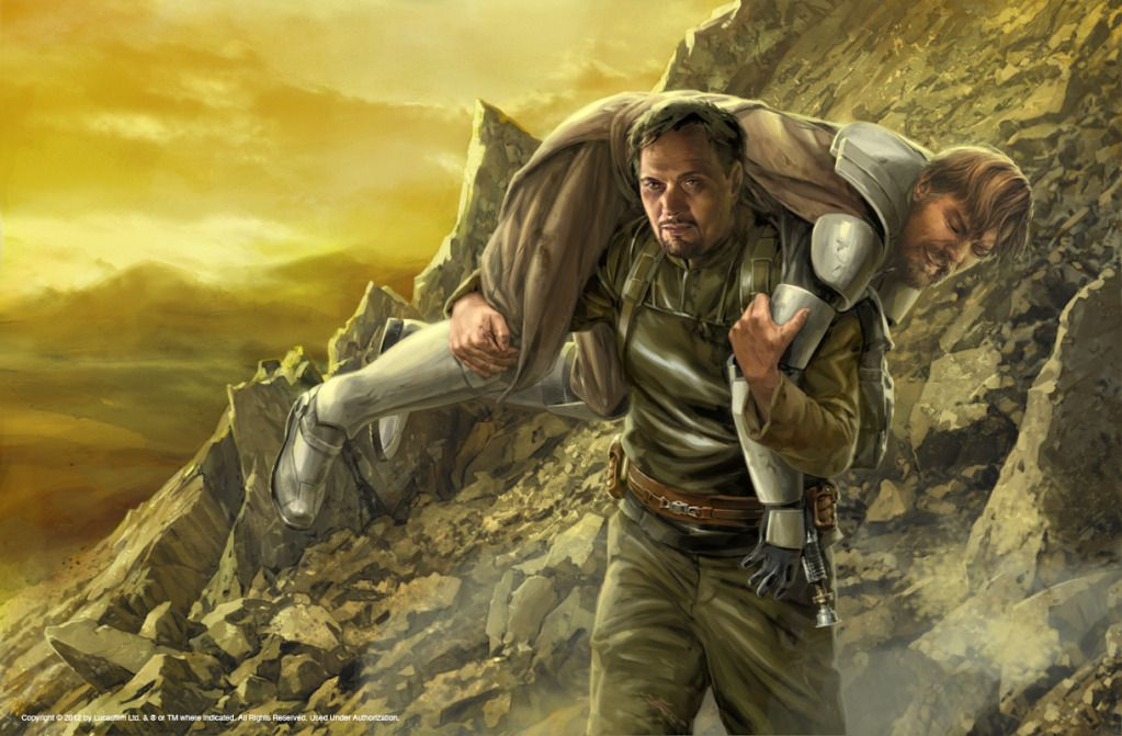 Clone Wars: Wild Space scene by Chris Trevas featuring Obi-Wan and Bail Organa