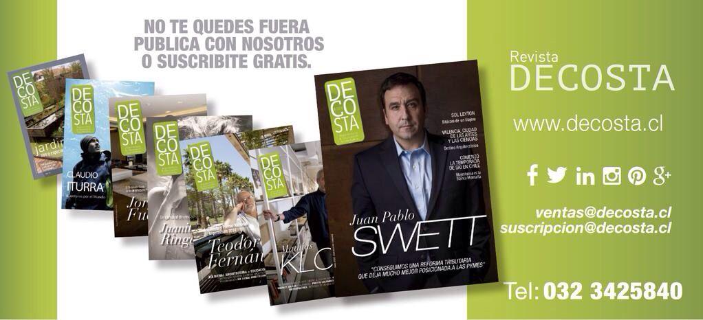 Te invito a ver la última edición de revista Decosta y visitar el sitio web www.decosta.cl