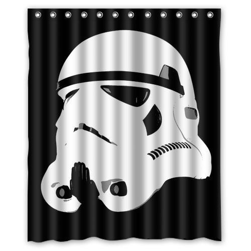Star War Stormtroopers Pattern Custom Waterproof Polyester Fabric Bathroom Shower Curtain With 12 Hooks 60