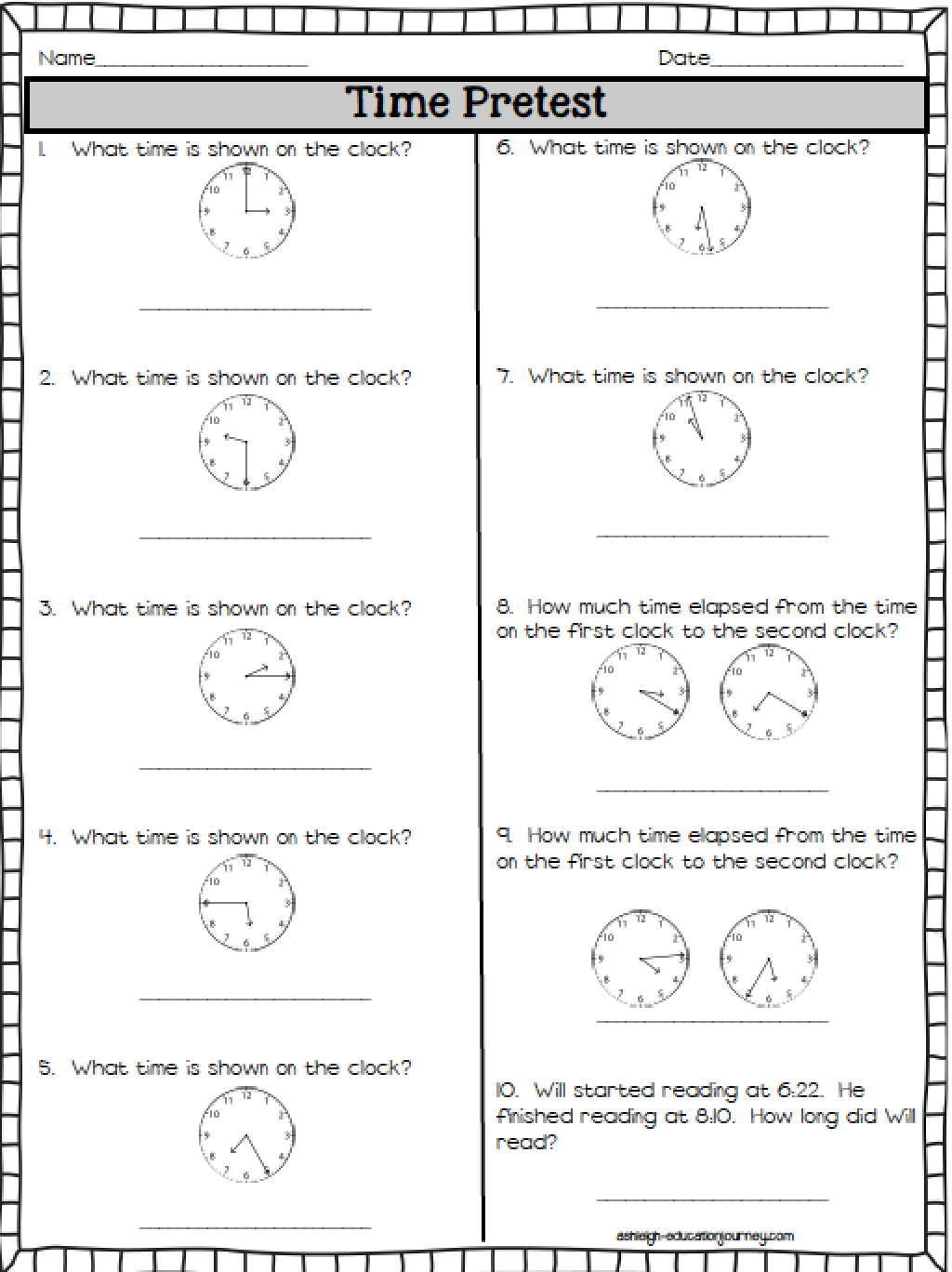 Elapsed Time (Ashleigh\'s Education Journey) | Mathe, Englisch und Schule