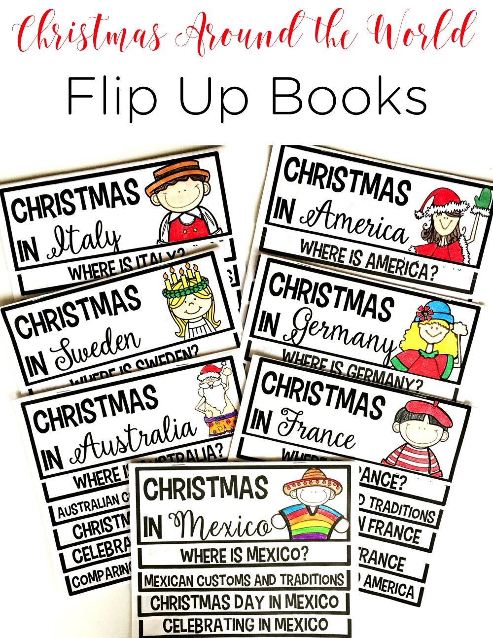 Christmas Around the World Flip Up Book BUNDLE Holidays