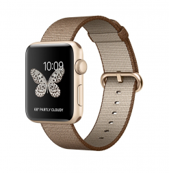 Apple Watch Ser2 42mm Aluminum Case with Sport Gold Coffee