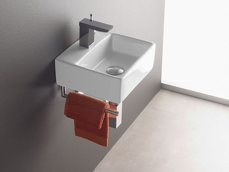 Wandmontage Waschbecken Bermeo 4901 Inkl Handtuchhalter Handwaschbecken Waschtisch Gaste Wc Handwaschbecken Gaste Wc Waschbecken