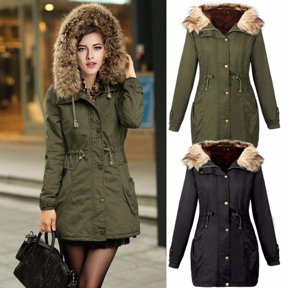 c1f0dd0dfc667 Maternity winter coat Military Hooded Fashion Thicken Down Coat for  Pregnant Women Pregnancy Coats Outerwear Jackets Plus XXL. Yesterday s  price  US  38.10 ...