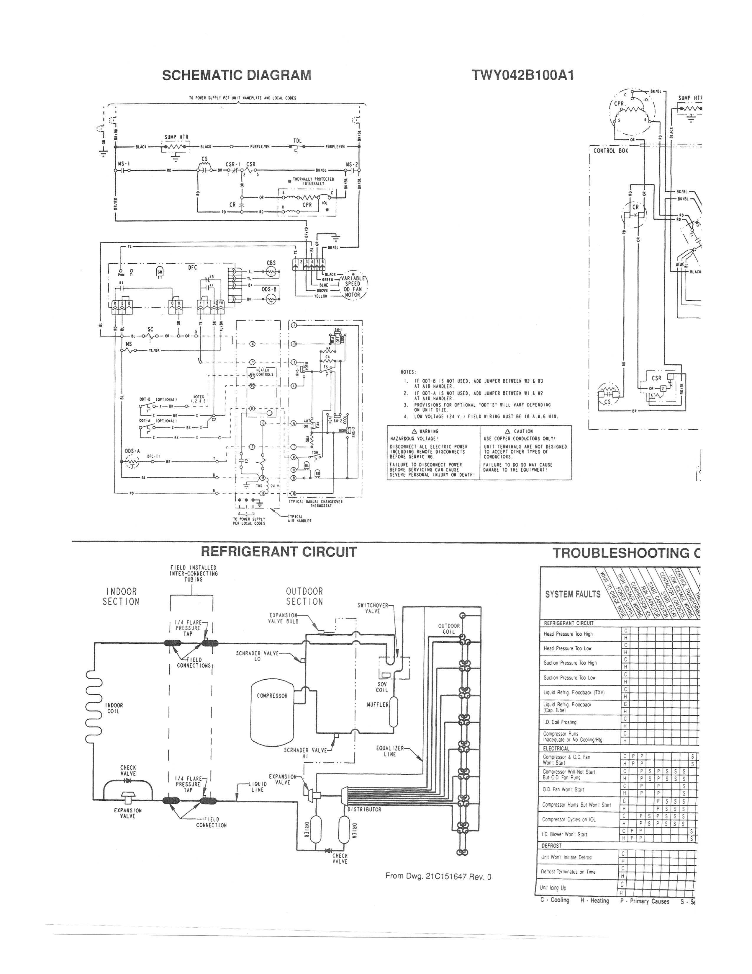 Hvac Wiring Diagram Thermostat Origami Gun Ductles Electrical Database Trane System Manual E Books