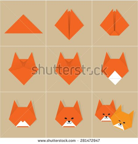 Step by step instructions how to make origami fox stock vector step by step instructions how to make origami fox stock vector mightylinksfo