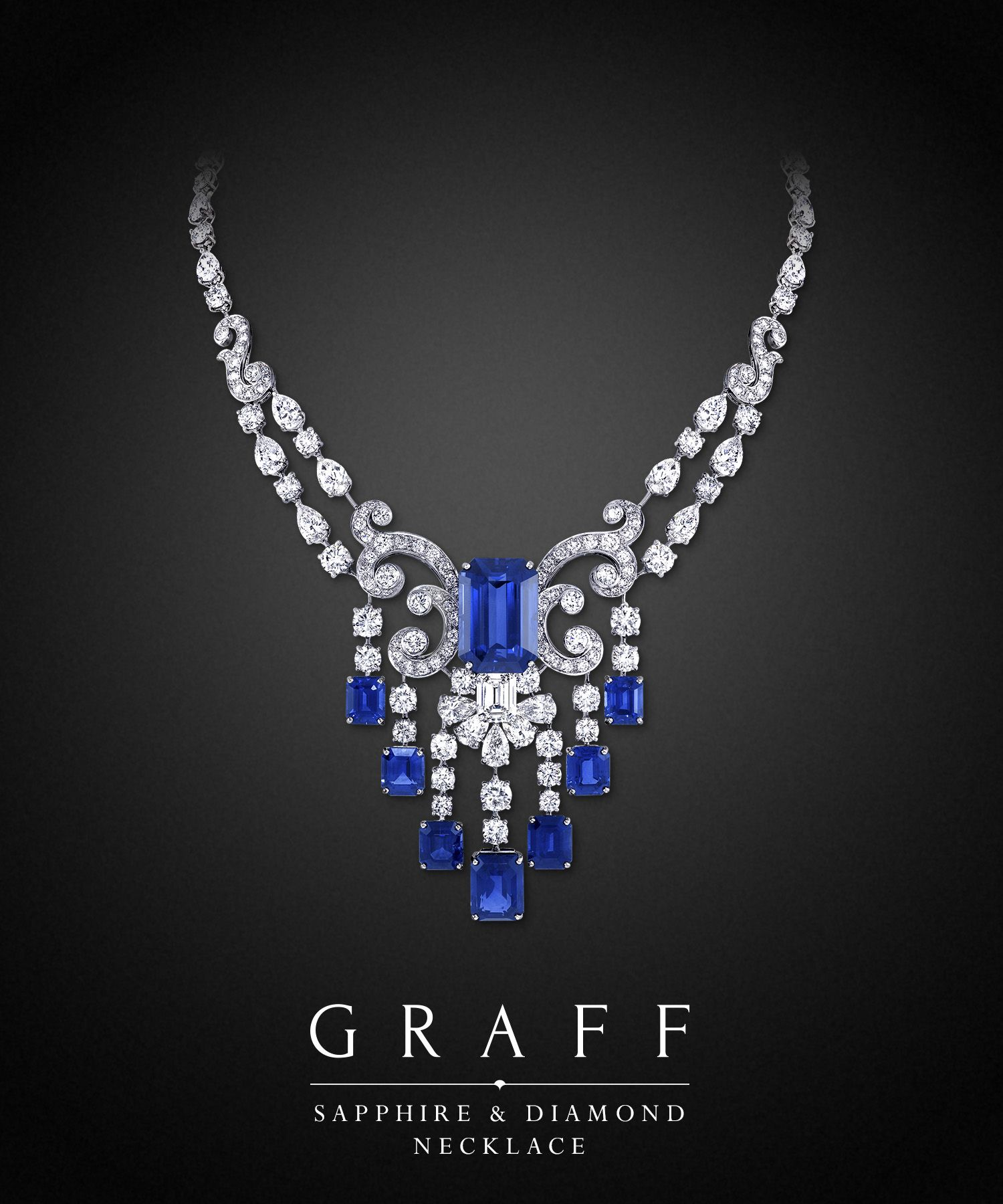 Graff Sapphire and Diamond Necklaces Jewelry