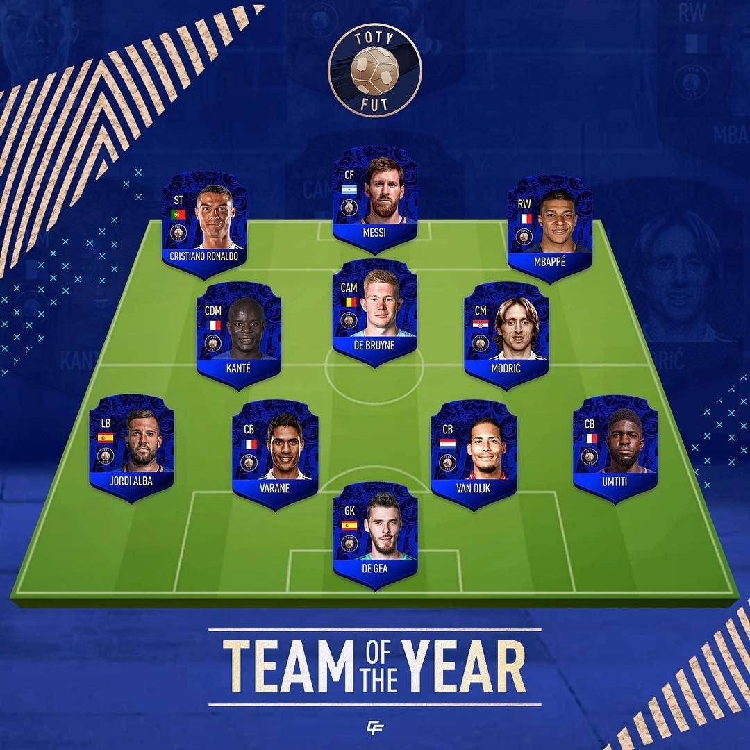 Here is my Team of the Year👑, Comment yours below!👇 FUT