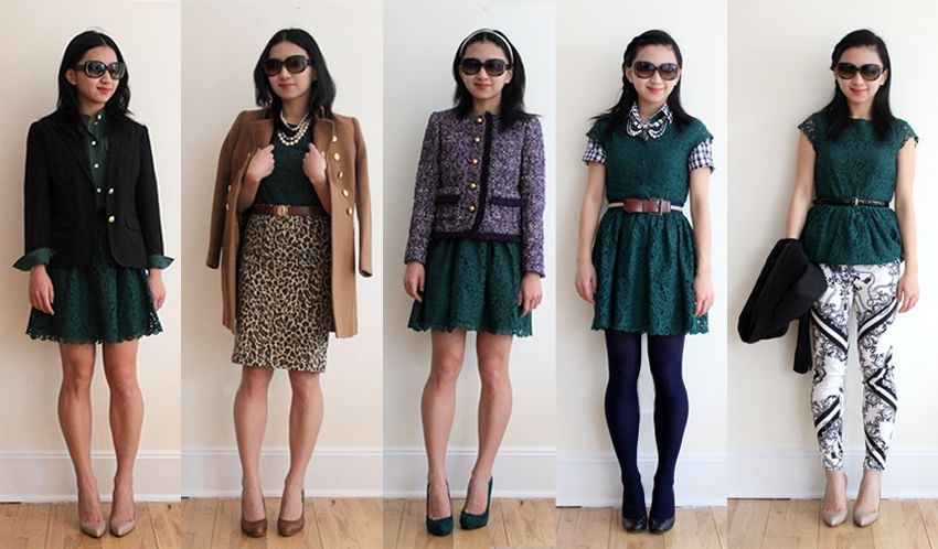 Ways to wear a lace dress via Elle - Love #2 and #5