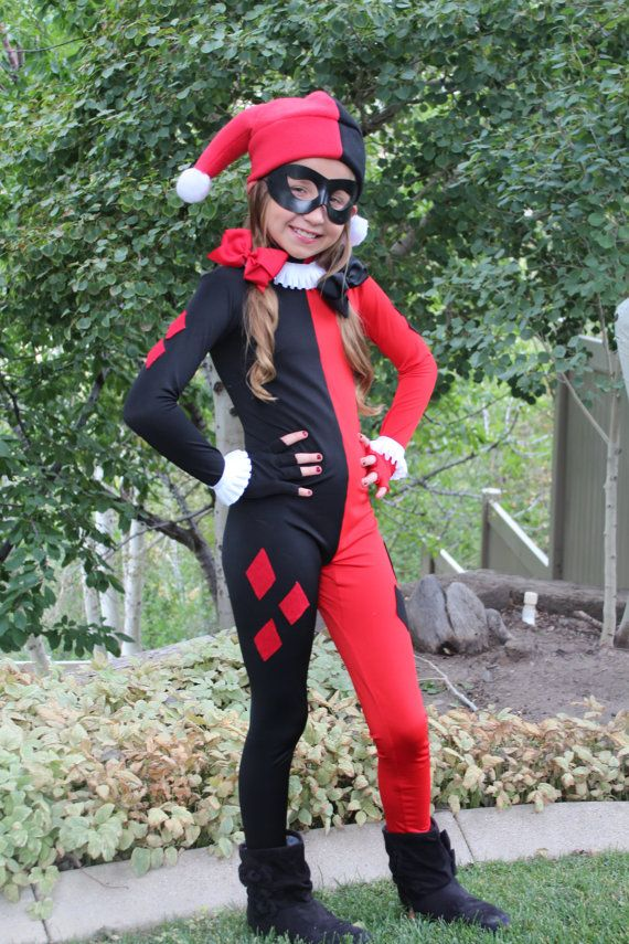 Halloween Joker And Harley Quinn Costumes.Childteen Premium Harley Quinn Costume By Vivawonderwoman On Etsy