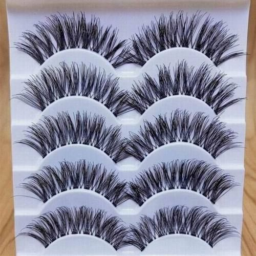 Details About 5Pair Natural Thick Cross Eye Lashes