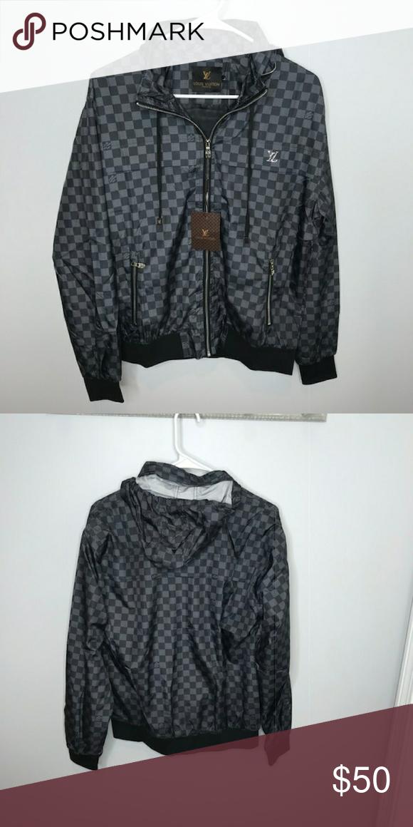 Louis Vuitton Gray Light Windbreaker Jacket Louis Vuitton