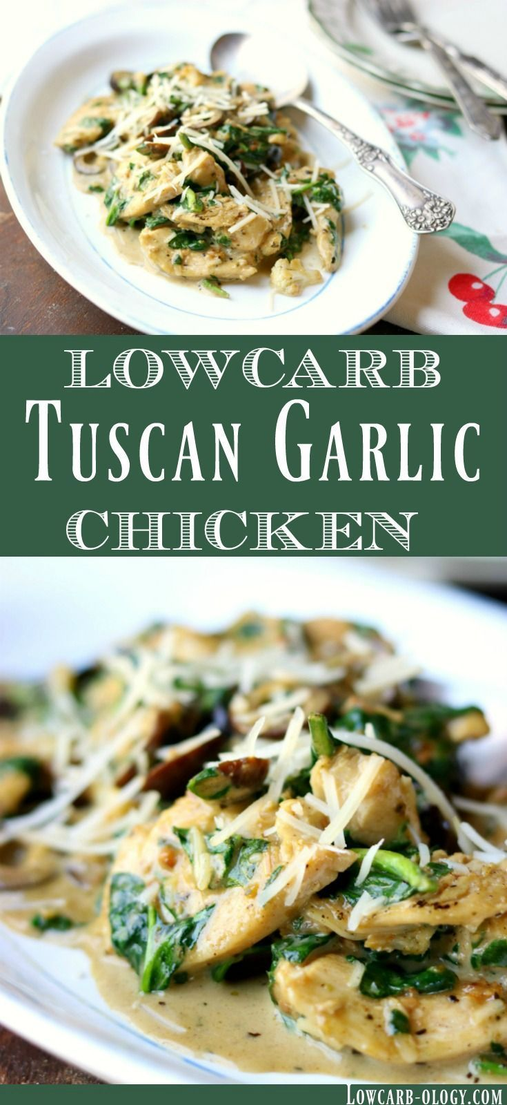 Easy low carb Tuscan Garlic Chicken recipe is a taste of Italy keto style Sim