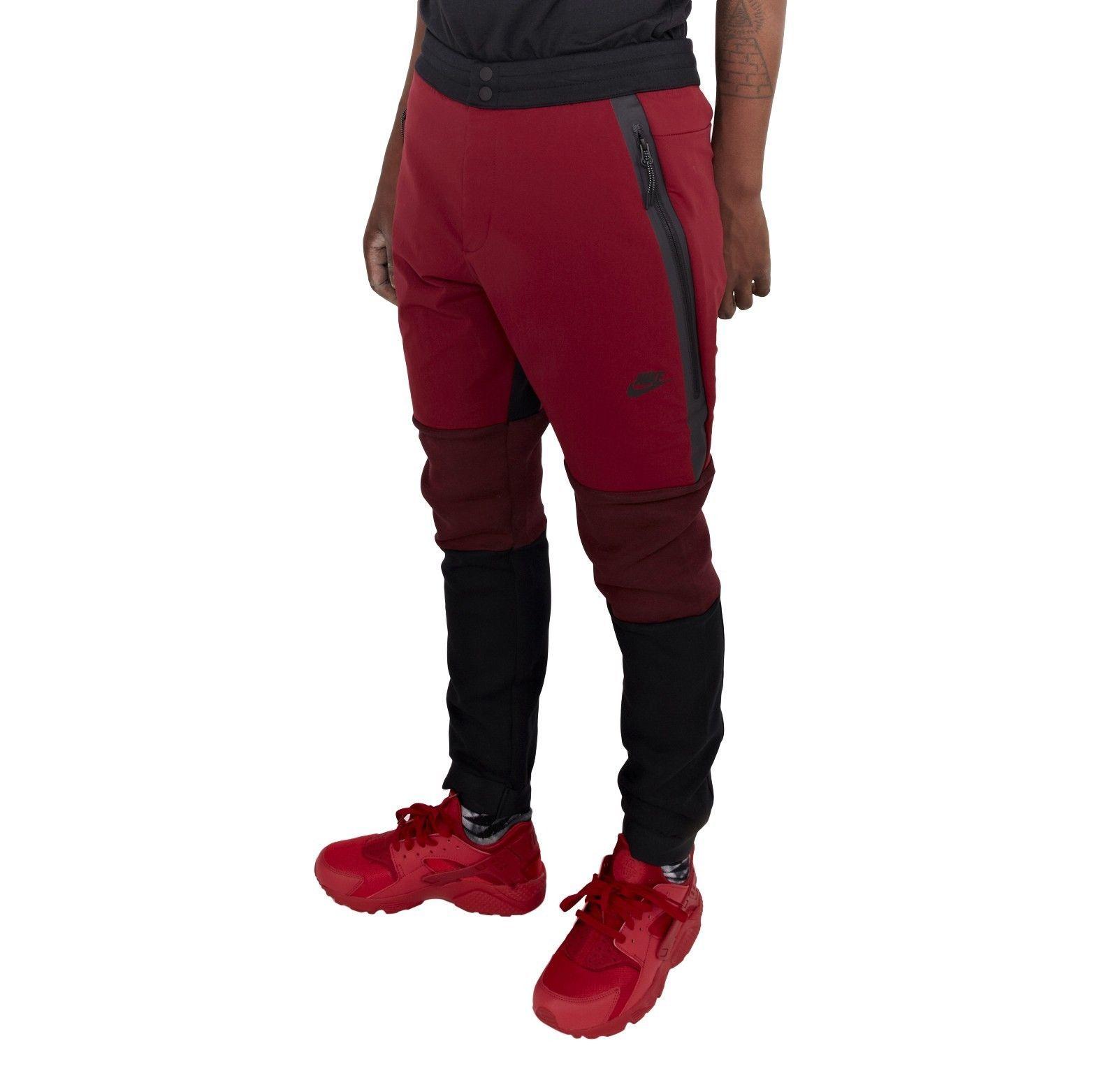 Nike tech fleece red black cargo jogger pants 700769 657