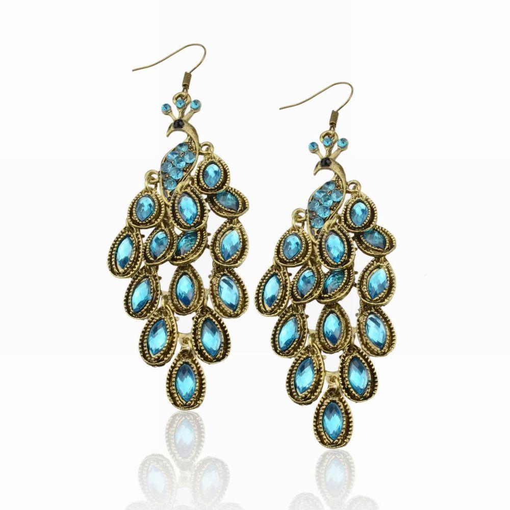 90e3645b600b6b New Lady Vintage Retro Blue the Prancing Peacock Earrings WAWO | 1 I wish I  wore this to prom | Peacock earrings, Earrings, Jewelry
