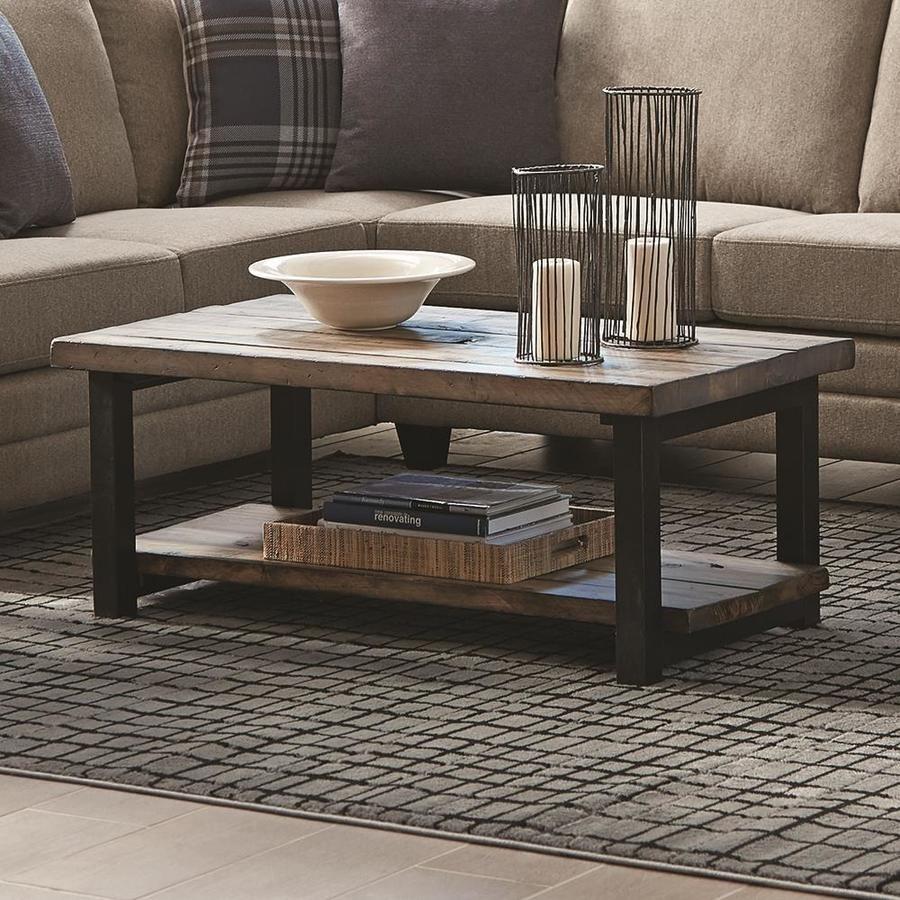 Scott Living Workshop Rustic Brown Wood Veneer Coffee Table Lowes Com Meja Kayu Kayu Meja [ 900 x 900 Pixel ]
