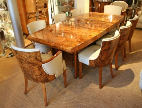 art deco dining table and chairs | 193837 | sellingantiques