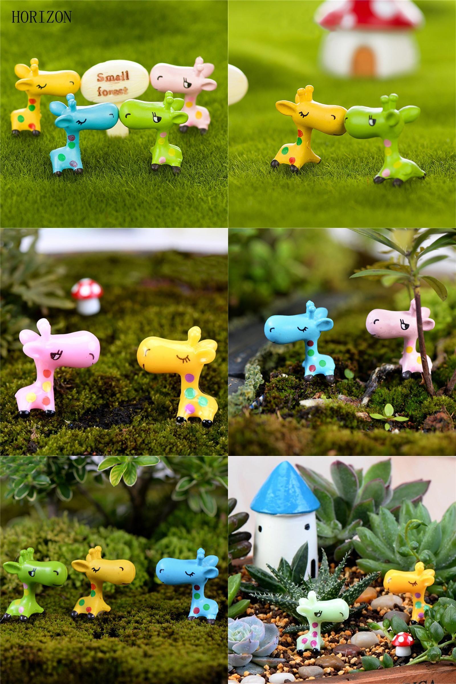 Fairy Dollhouse Miniature Animals Figurine Garden Ornament Plant Pot Bonsai DIY