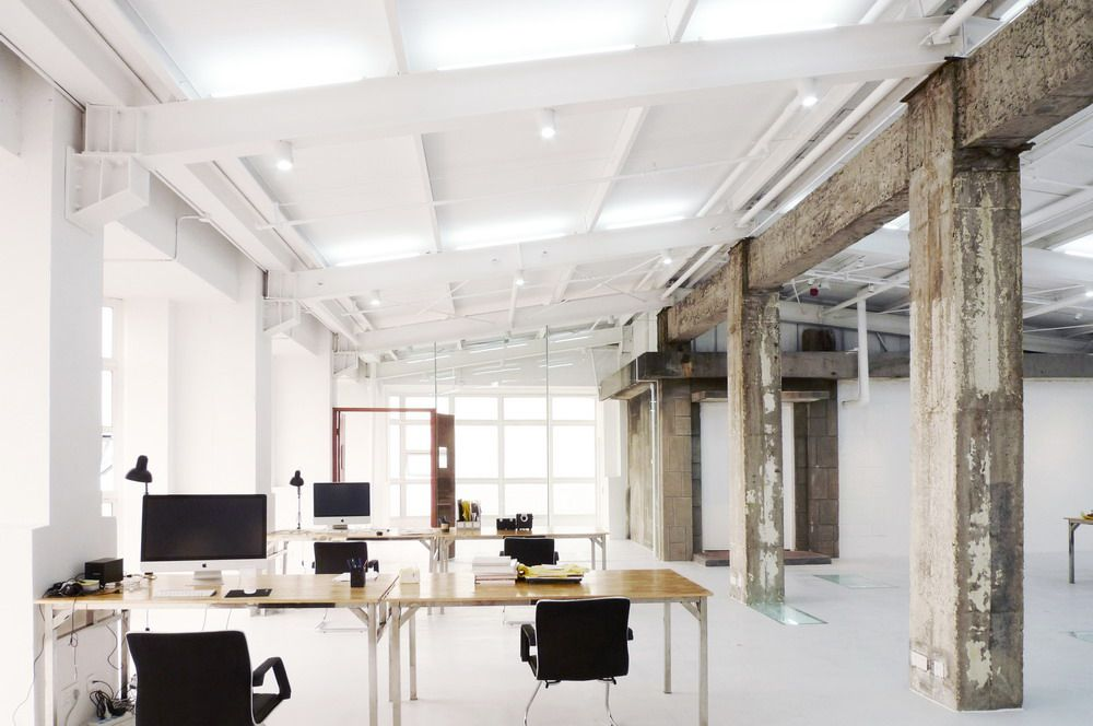 Beautiful open space work environment