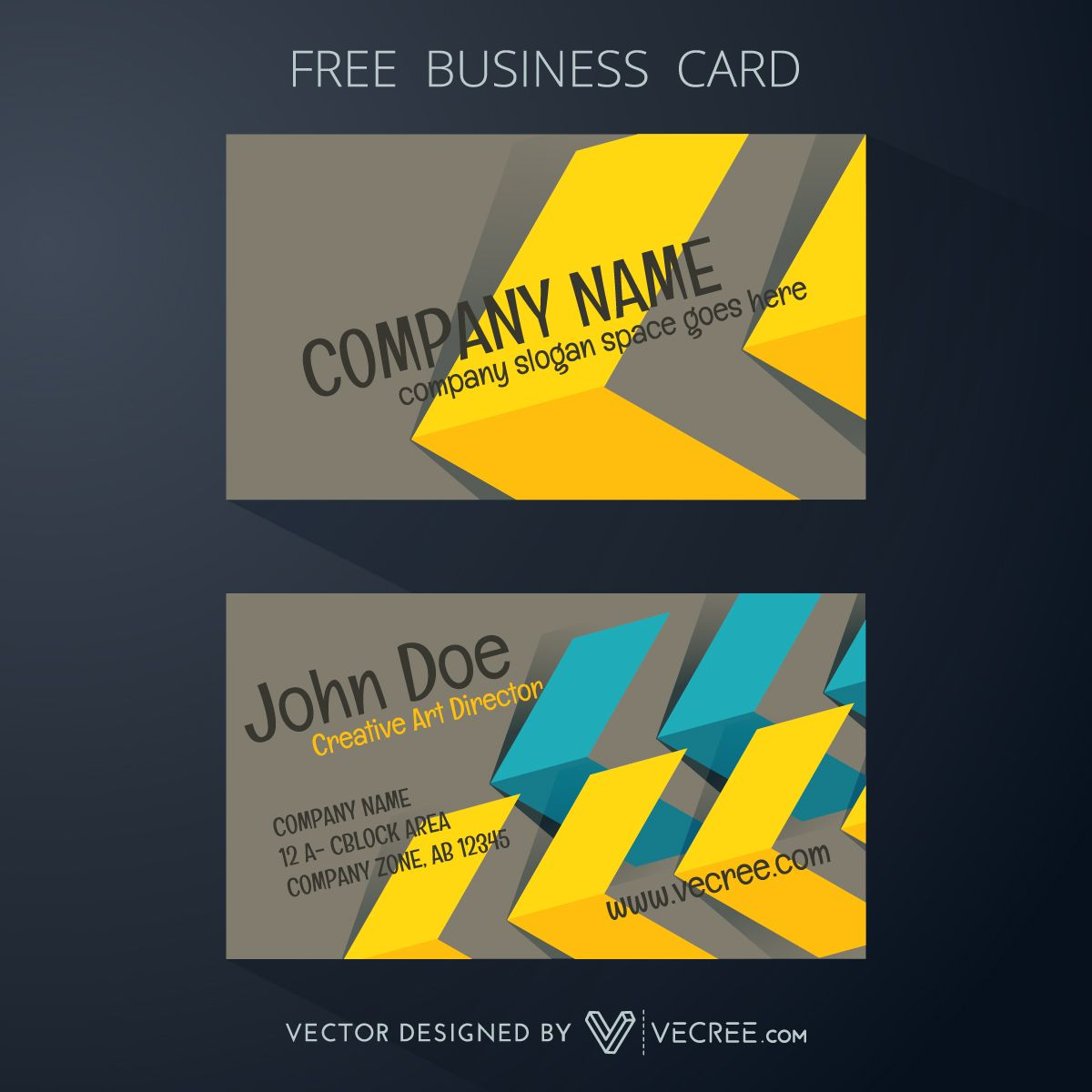 Business Card Design With Arrow Pattern Design Free Vector - https://vecree.com/1609812/business-card-design-with-arrow-pattern-design-free-vector/