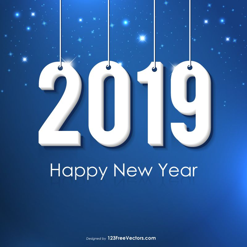 New Year 2019  New Year 2019 Images  Happy new year vector, New