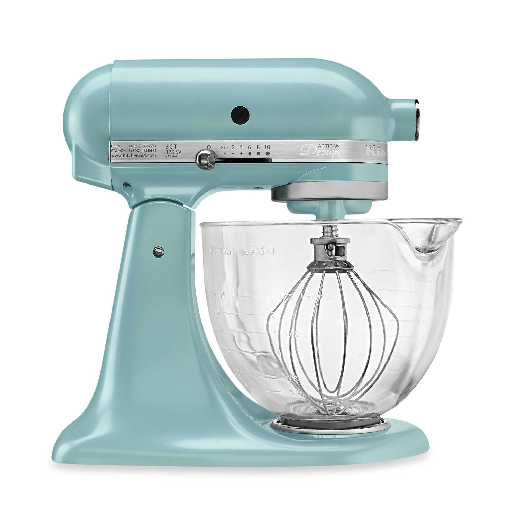 Kitchenaid 5 Qt Artisan Design Series Stand Mixer With Glass