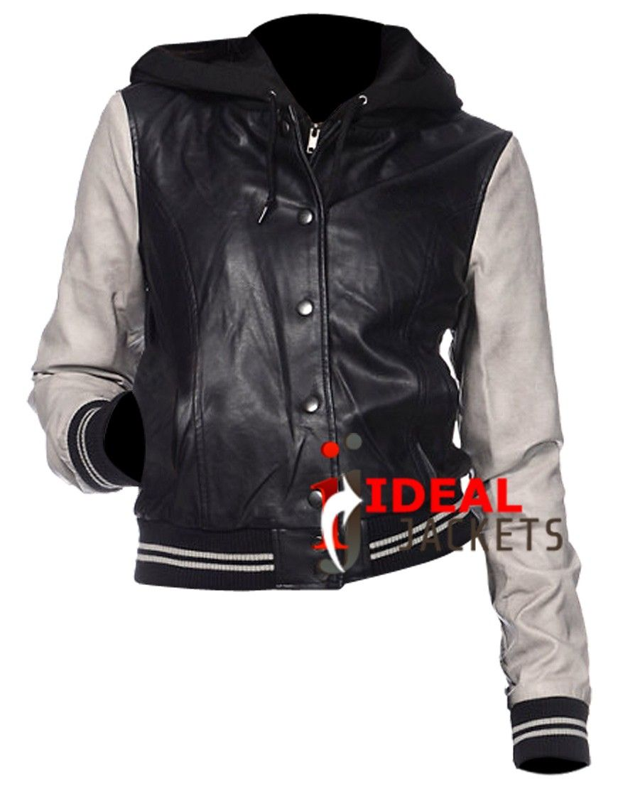 Leather jacket cost - Sporty Gray Black Jacket Cost 275 00
