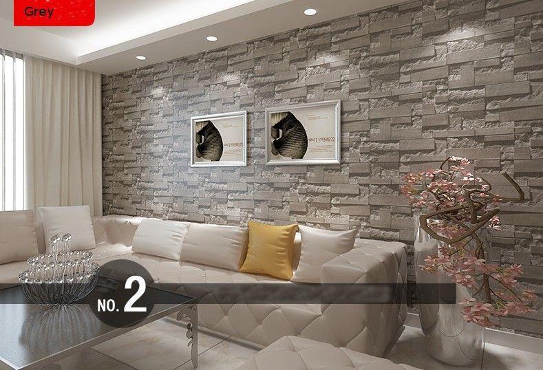 brick effect wallpaper living room - Google Search   Home   Brick effect wallpaper living room ...