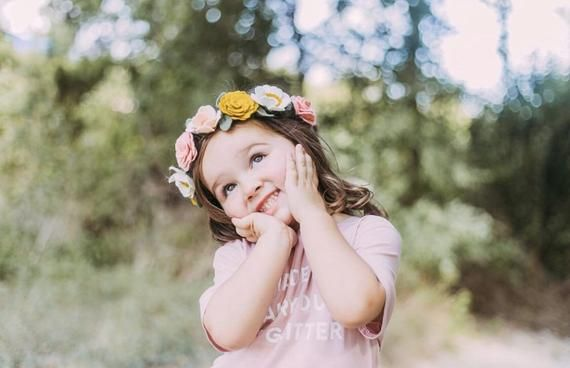 BLUSH + MUSTARD || warm toned flower crown. full bloom flower crown headband. #crownheadband