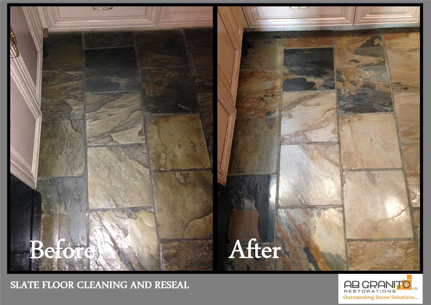 Slate floor deep cleaning and restoration Floor