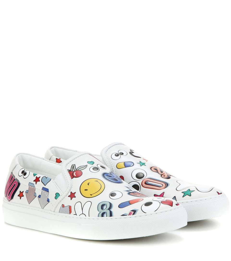 Recommend Cheap Best Wholesale For Sale Anya Hindmarch Hi top all over wink stickers Jo9aLPJ