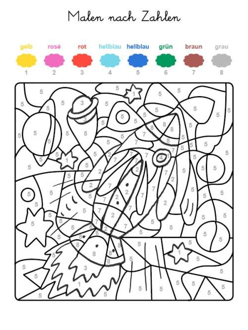 Niedlich Malvorlagen Schwierig Farbe Nach Nummer Bilder ...